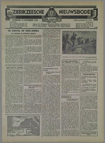 Zierikzeesche Nieuwsbode 1942-11-14