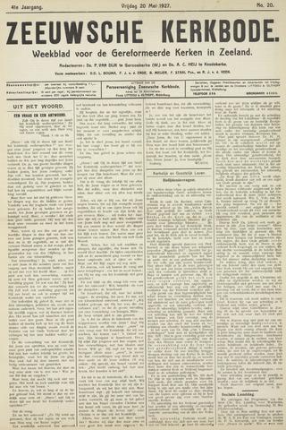 Zeeuwsche kerkbode, weekblad gewijd aan de belangen der gereformeerde kerken/ Zeeuwsch kerkblad 1927-05-20