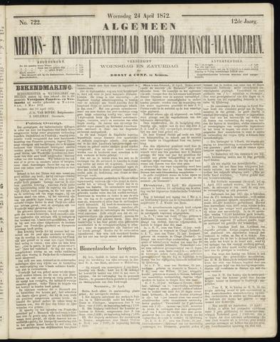 Ter Neuzensche Courant. Algemeen Nieuws- en Advertentieblad voor Zeeuwsch-Vlaanderen / Neuzensche Courant ... (idem) / (Algemeen) nieuws en advertentieblad voor Zeeuwsch-Vlaanderen 1872-04-24