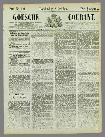 Goessche Courant 1891-10-08