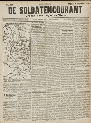 De Soldatencourant. Orgaan voor Leger en Vloot 1916-08-18