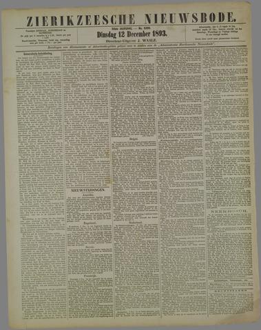 Zierikzeesche Nieuwsbode 1893-12-12