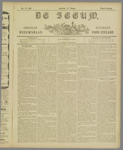 De Zeeuw. Christelijk-historisch nieuwsblad voor Zeeland 1895-02-21
