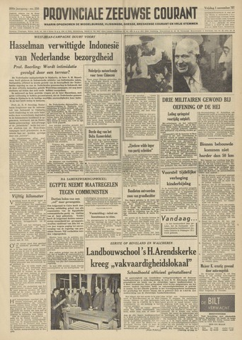 Provinciale Zeeuwse Courant 1957-11-01