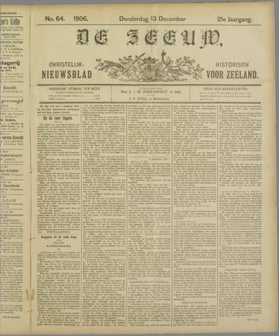 De Zeeuw. Christelijk-historisch nieuwsblad voor Zeeland 1906-12-13