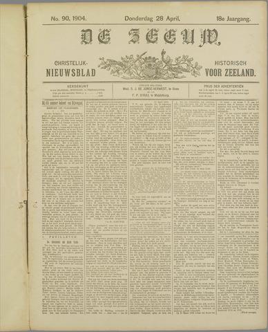 De Zeeuw. Christelijk-historisch nieuwsblad voor Zeeland 1904-04-28