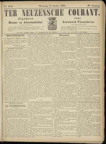 Ter Neuzensche Courant. Algemeen Nieuws- en Advertentieblad voor Zeeuwsch-Vlaanderen / Neuzensche Courant ... (idem) / (Algemeen) nieuws en advertentieblad voor Zeeuwsch-Vlaanderen 1888-10-17