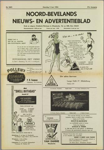 Noord-Bevelands Nieuws- en advertentieblad 1954-06-05