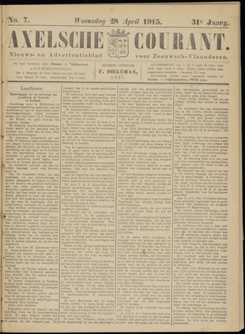 Axelsche Courant 1915-04-28