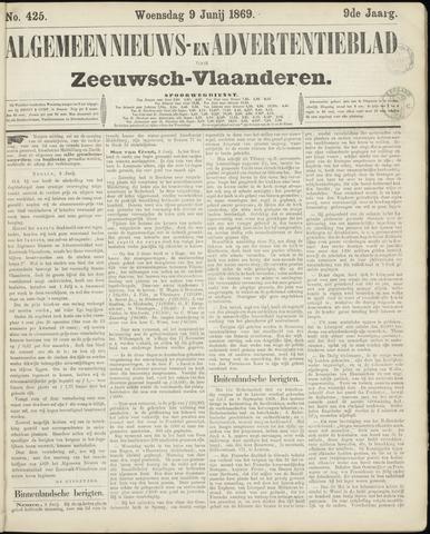 Ter Neuzensche Courant. Algemeen Nieuws- en Advertentieblad voor Zeeuwsch-Vlaanderen / Neuzensche Courant ... (idem) / (Algemeen) nieuws en advertentieblad voor Zeeuwsch-Vlaanderen 1869-06-09