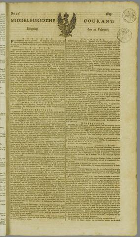 Middelburgsche Courant 1817-02-25