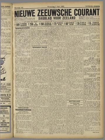 Nieuwe Zeeuwsche Courant 1922-04-05
