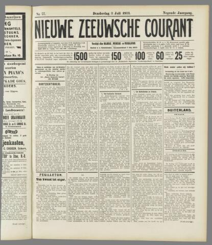 Nieuwe Zeeuwsche Courant 1913-07-03