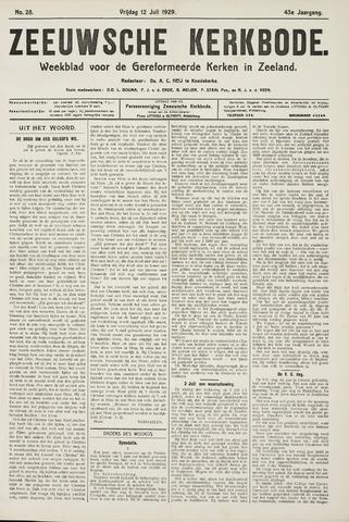 Zeeuwsche kerkbode, weekblad gewijd aan de belangen der gereformeerde kerken/ Zeeuwsch kerkblad 1929-07-12