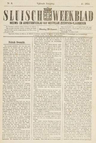 Sluisch Weekblad. Nieuws- en advertentieblad voor Westelijk Zeeuwsch-Vlaanderen 1874-01-20