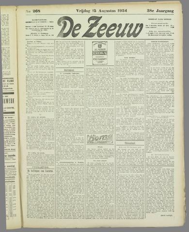 De Zeeuw. Christelijk-historisch nieuwsblad voor Zeeland 1924-08-15