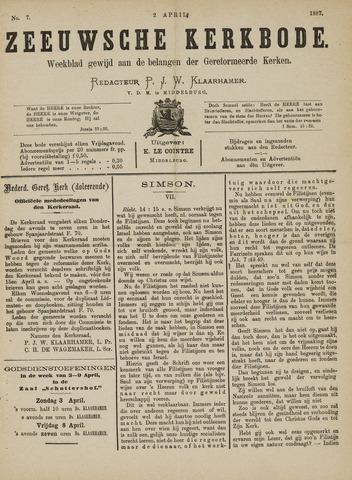 Zeeuwsche kerkbode, weekblad gewijd aan de belangen der gereformeerde kerken/ Zeeuwsch kerkblad 1887-04-02