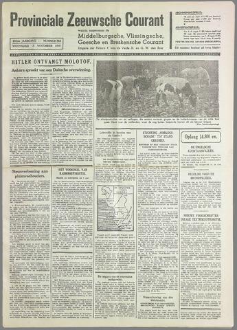 Provinciale Zeeuwse Courant 1940-11-13