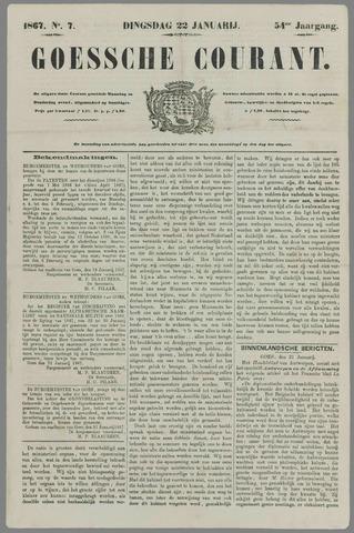 Goessche Courant 1867-01-22