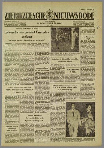 Zierikzeesche Nieuwsbode 1960-09-06