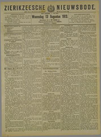 Zierikzeesche Nieuwsbode 1913-08-13