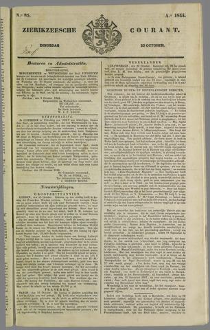Zierikzeesche Courant 1844-10-22