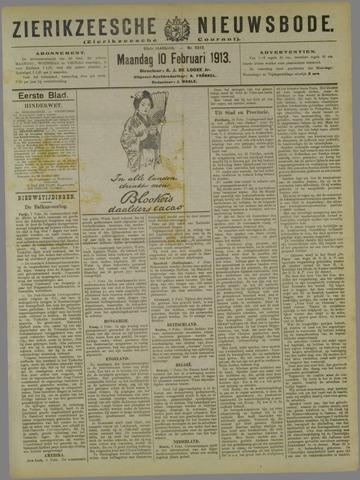 Zierikzeesche Nieuwsbode 1913-02-10