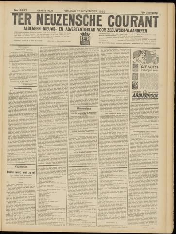 Ter Neuzensche Courant. Algemeen Nieuws- en Advertentieblad voor Zeeuwsch-Vlaanderen / Neuzensche Courant ... (idem) / (Algemeen) nieuws en advertentieblad voor Zeeuwsch-Vlaanderen 1939-11-17