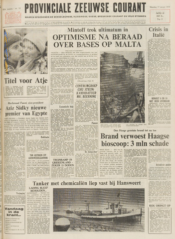 Provinciale Zeeuwse Courant 1972-01-17