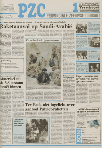 Provinciale Zeeuwse Courant 1991-01-21