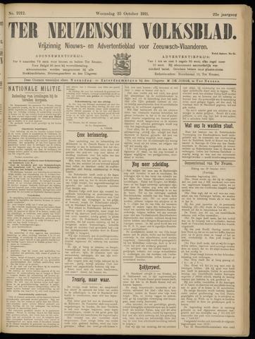 Ter Neuzensch Volksblad. Vrijzinnig nieuws- en advertentieblad voor Zeeuwsch- Vlaanderen / Zeeuwsch Nieuwsblad. Nieuws- en advertentieblad voor Zeeland 1911-10-25