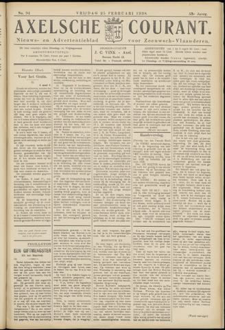 Axelsche Courant 1938-02-25