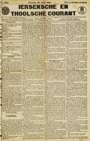 Ierseksche en Thoolsche Courant 1918-04-20