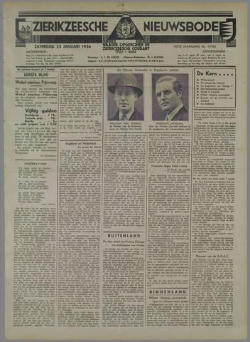 Zierikzeesche Nieuwsbode 1936-01-25