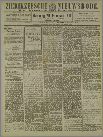 Zierikzeesche Nieuwsbode 1911-02-20