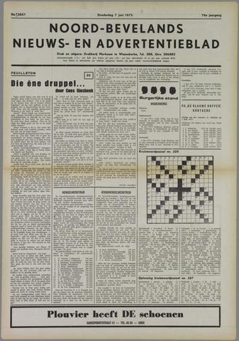 Noord-Bevelands Nieuws- en advertentieblad 1973-06-07