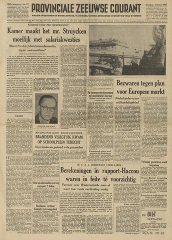 Provinciale Zeeuwse Courant 1957-02-01