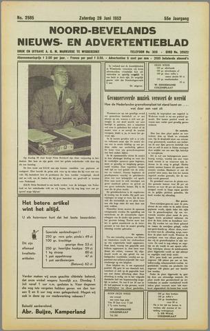 Noord-Bevelands Nieuws- en advertentieblad 1952-06-28