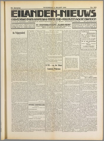 Eilanden-nieuws. Christelijk streekblad op gereformeerde grondslag 1940-03-06