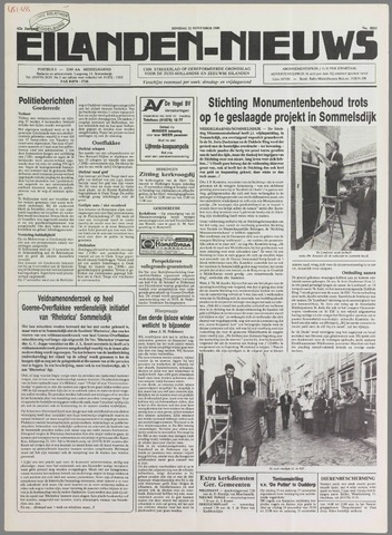 Eilanden-nieuws. Christelijk streekblad op gereformeerde grondslag 1989-11-21