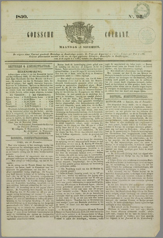 Goessche Courant 1850-11-18