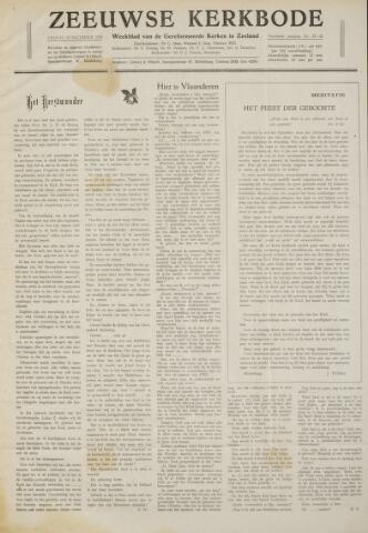Zeeuwsche kerkbode, weekblad gewijd aan de belangen der gereformeerde kerken/ Zeeuwsch kerkblad 1958-12-19