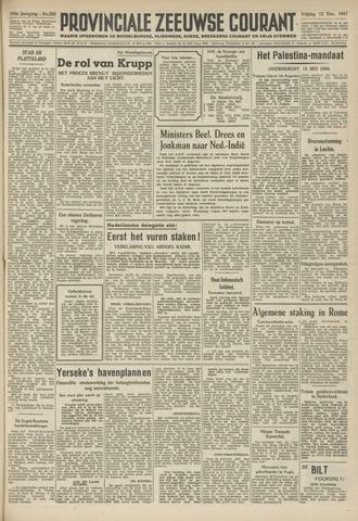 Provinciale Zeeuwse Courant 1947-12-12