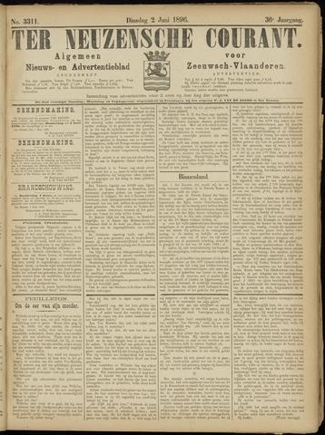 Ter Neuzensche Courant. Algemeen Nieuws- en Advertentieblad voor Zeeuwsch-Vlaanderen / Neuzensche Courant ... (idem) / (Algemeen) nieuws en advertentieblad voor Zeeuwsch-Vlaanderen 1896-06-02