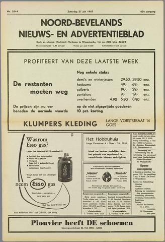Noord-Bevelands Nieuws- en advertentieblad 1957-07-27