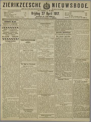 Zierikzeesche Nieuwsbode 1917-04-27
