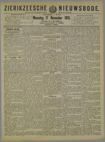 Zierikzeesche Nieuwsbode 1913-11-17