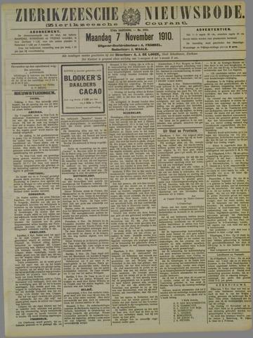 Zierikzeesche Nieuwsbode 1910-11-07