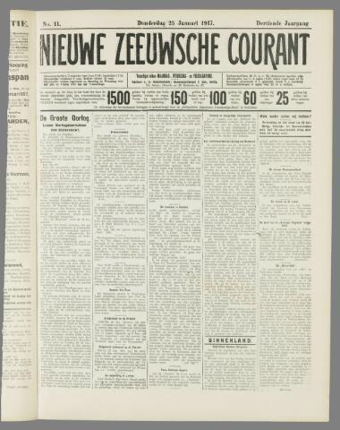 Nieuwe Zeeuwsche Courant 1917-01-25