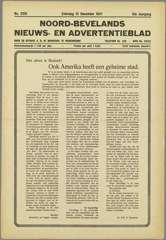 Noord-Bevelands Nieuws- en advertentieblad 1947-12-13